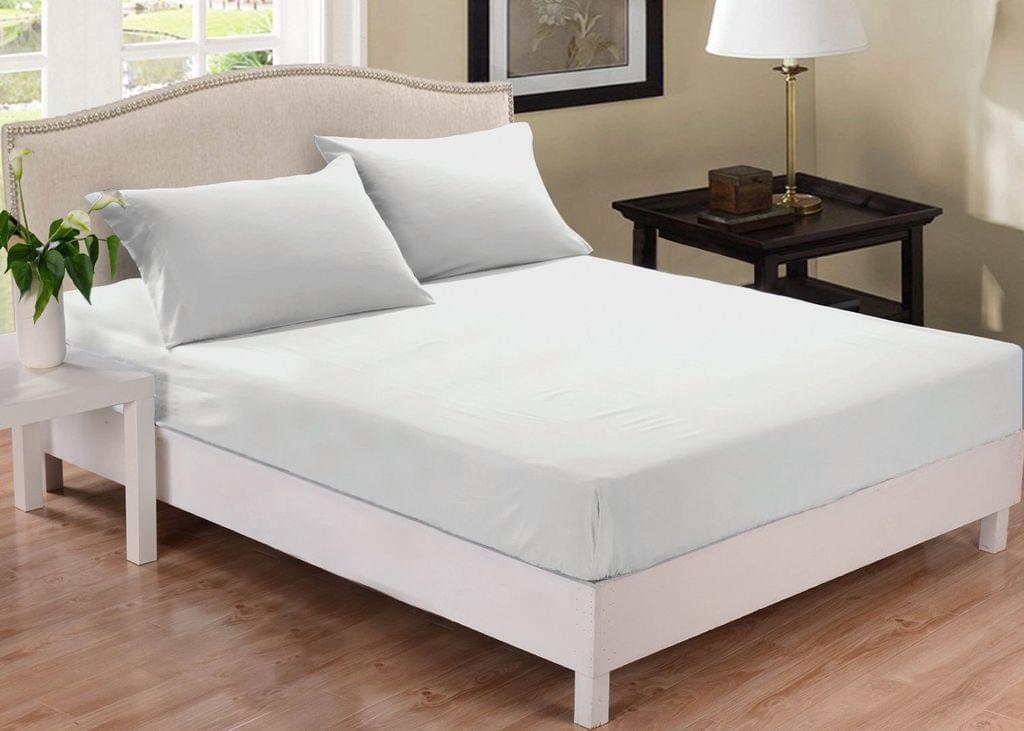 Park Avenue 1000 Thread Count Cotton Blend Combo Set Queen Bed - White