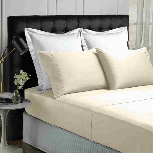 Park Avenue 500TC Soft Natural Bamboo Cotton Sheet Set Breathable Bedding - Double - Vanilla