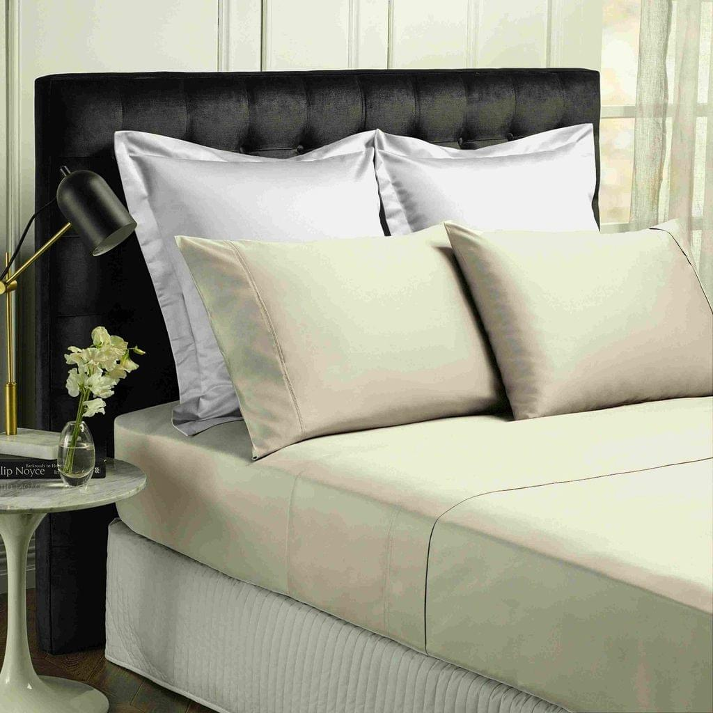 Park Avenue 500TC Soft Natural Bamboo Cotton Sheet Set Breathable Bedding - King - Dove