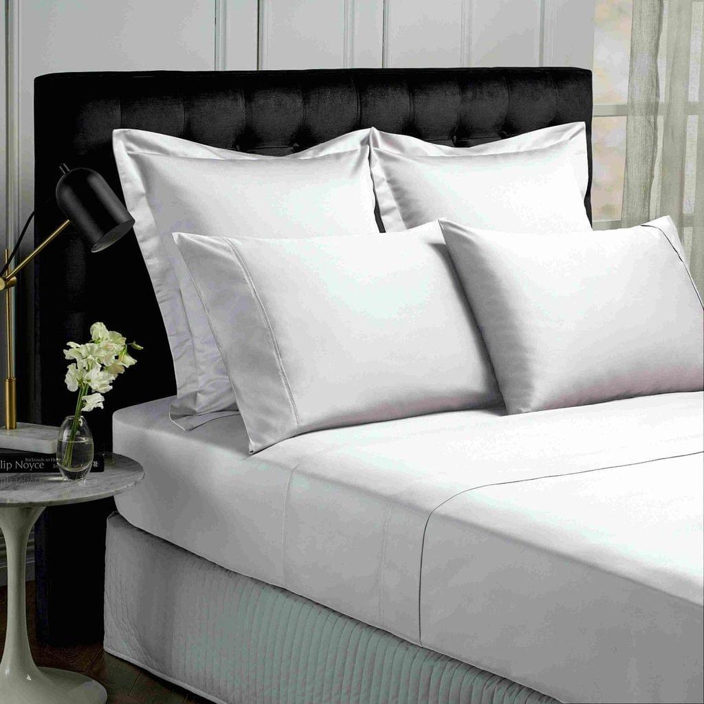 Park Avenue 500TC Soft Natural Bamboo Cotton Sheet Set Breathable Bedding - King - White