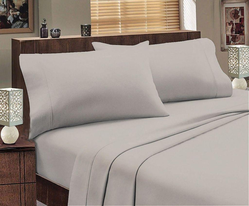 ALL SIZES Egyptian Cotton Sheet Set Flannelette 175GSM Luxury Comfortable - Queen - Graphite