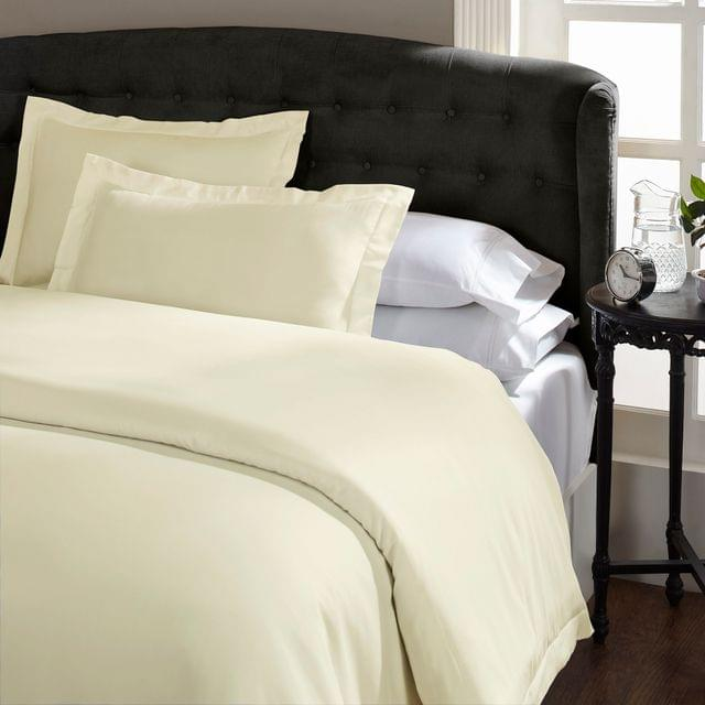 Royal Comfort Queen 1500TC Markle Collection Cotton Blend Quilt Cover Set - Ivory