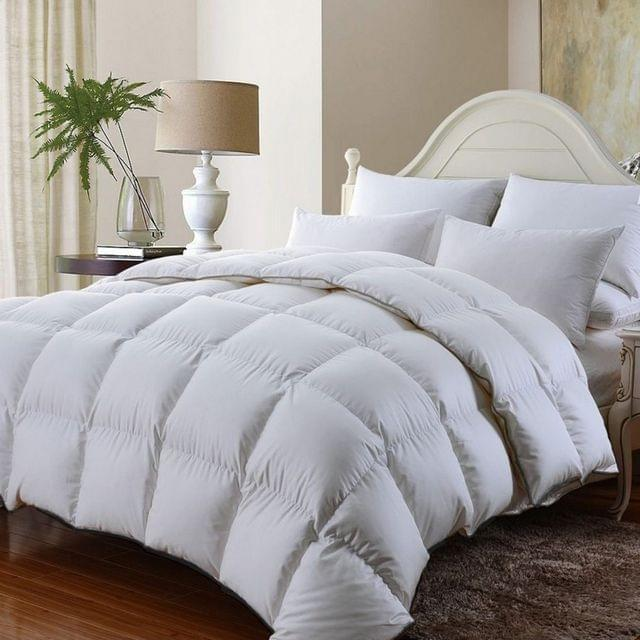 Royal Comfort 350GSM Luxury Soft Bamboo All-Seasons Quilt Duvet Doona All Sizes - Single - White