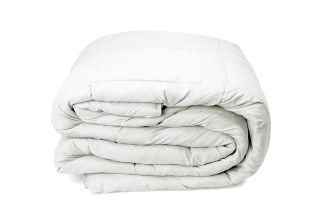 Royal Comfort Queen 300GSM Goose Down Feather Summer Quilt 100% Cotton Cover