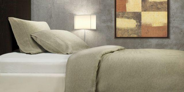 Royal Comfort 100% All Natural French Lux Linen Quilt Cover Set Double - Truffle