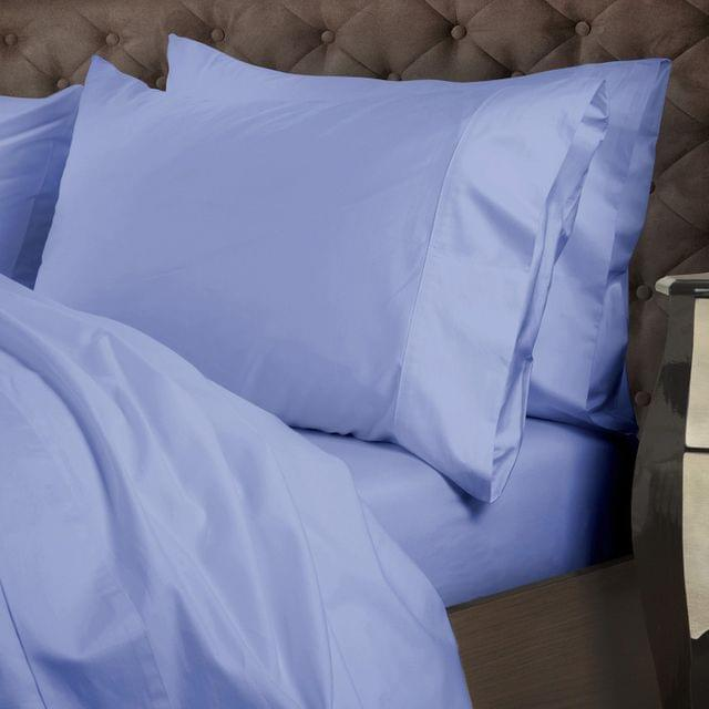 Royal Comfort 1000 Thread Count Cotton 4 Piece Quilt Cover Set for Double Bed - Powder Blue