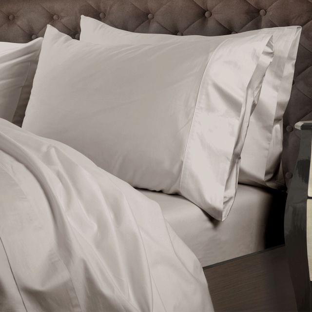 Royal Comfort 1000 Thread Count Cotton 4 Piece Quilt Cover Set for Double Bed - Warm Grey