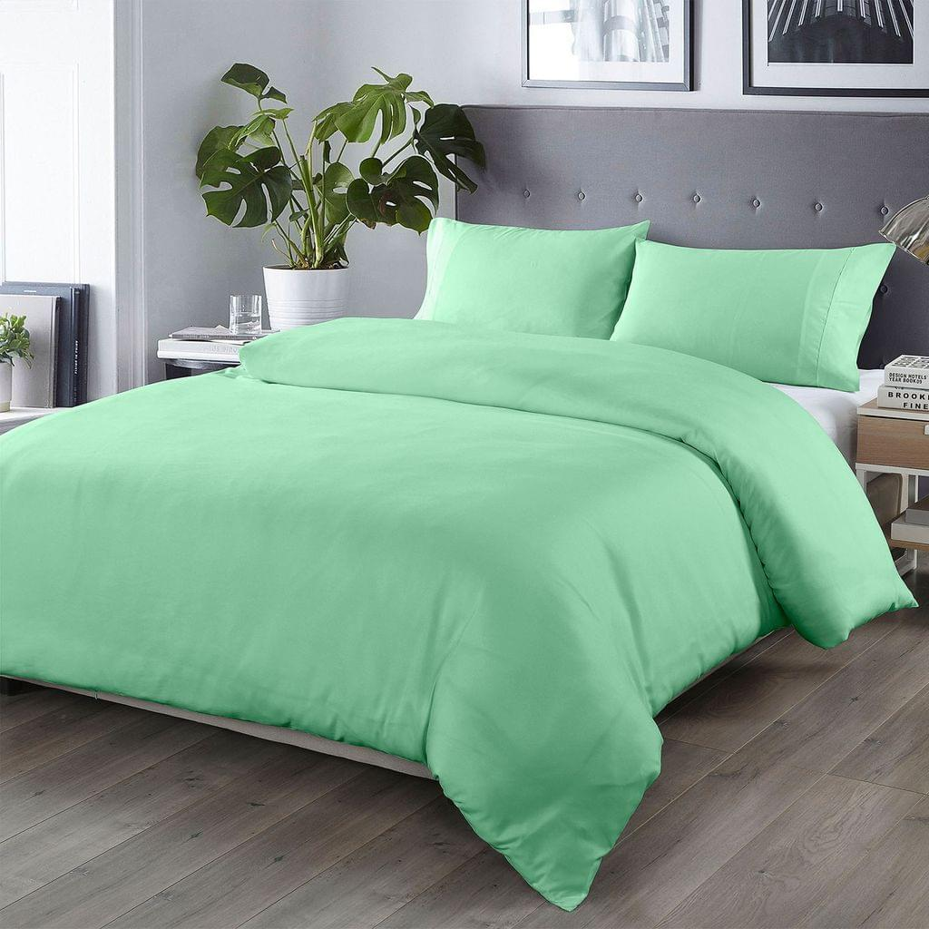 Royal Comfort Bamboo Blended Quilt Cover Set 1000TC Ultra Soft Luxury Bedding - Queen - Green