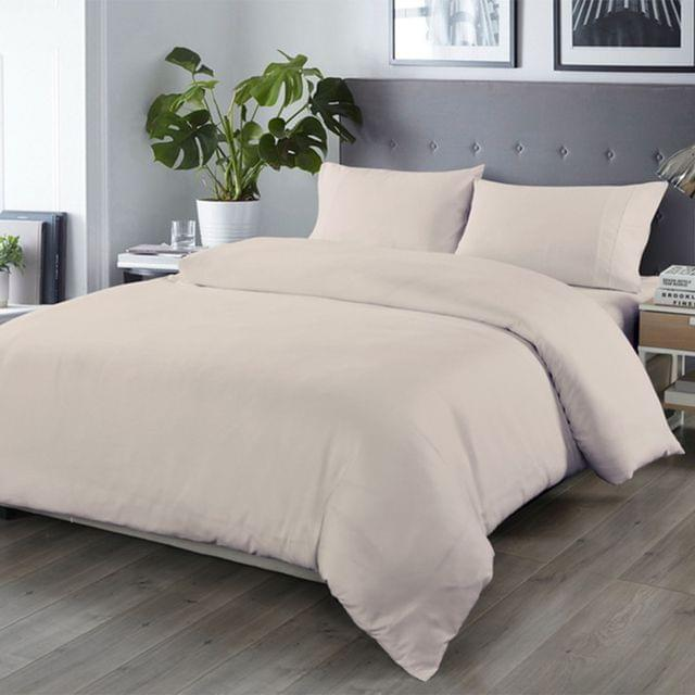 Royal Comfort Bamboo Blended Quilt Cover Set 1000TC Ultra Soft Luxury Bedding - Queen - Grey