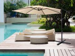 NEW Milano 3M Outdoor Sun Umbrella Patio Garden Beach Crank Tilt Polyester - Beige