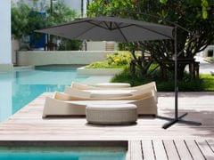 NEW Milano 3M Outdoor Sun Umbrella Patio Garden Beach Crank Tilt Polyester - Charcoal