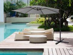NEW Milano 3M Outdoor Sun Umbrella Patio Garden Beach Crank Tilt Polyester - Grey