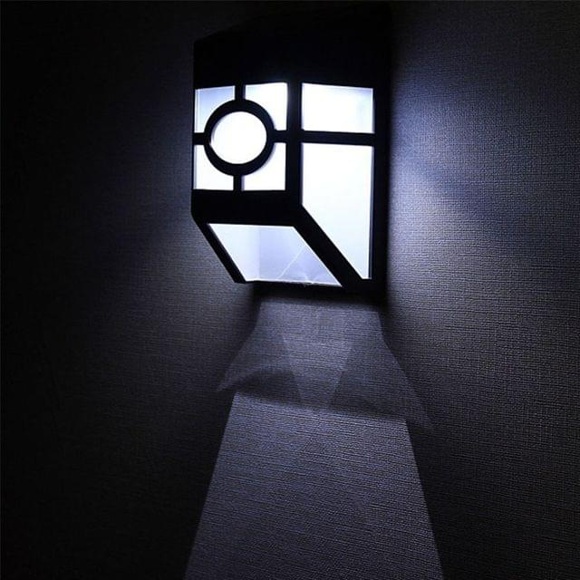 Solar Power Bright LED Waterproof Fence Outdoor Garden Patio Wall Pathway Light