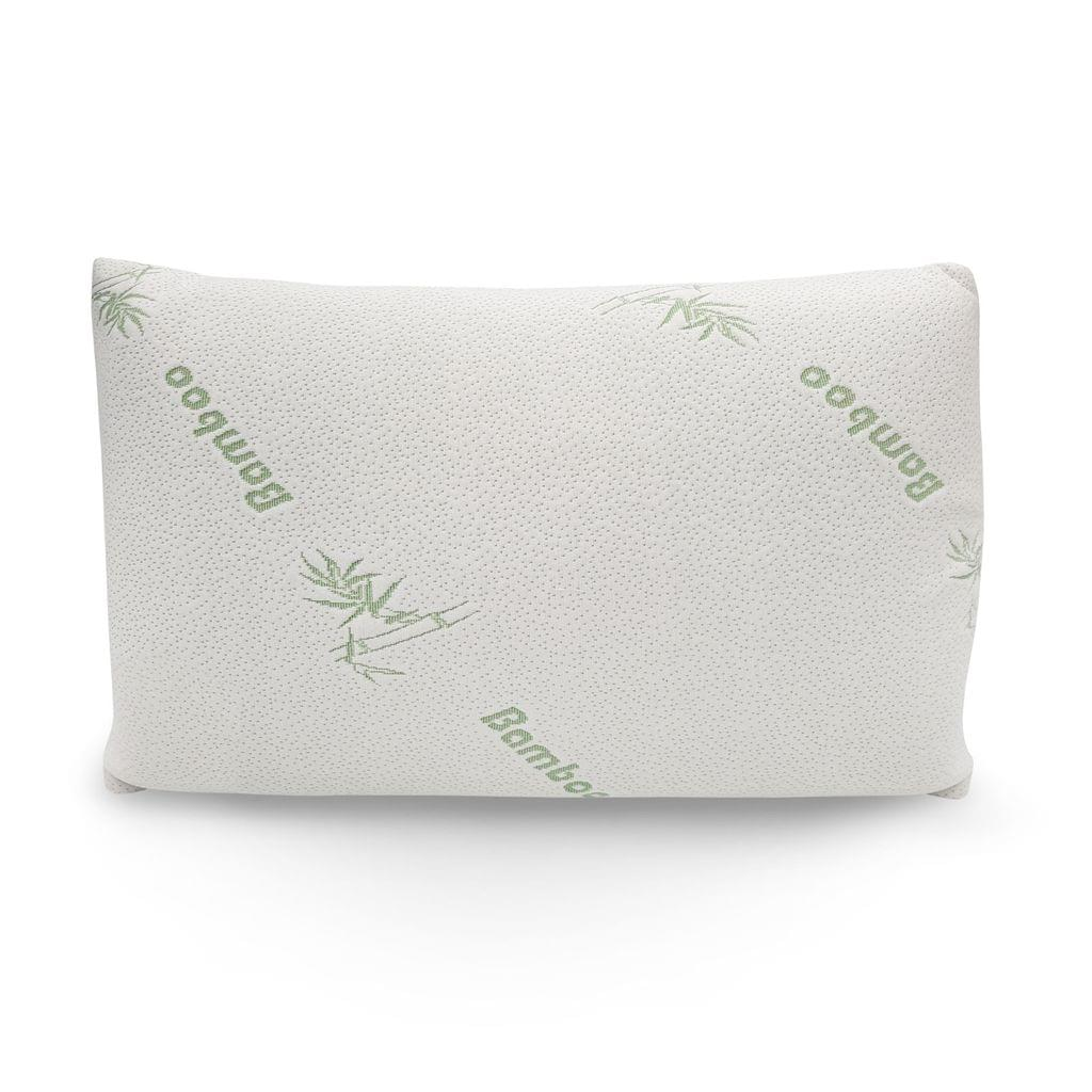 Memory Foam Pillow Bamboo Covered Ultra Soft Hypoallergenic Removable Zip Cover