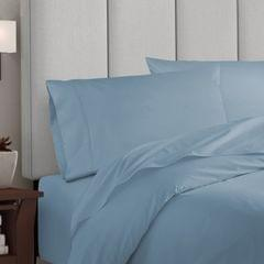 Balmain 1000 Thread Count Hotel Grade Bamboo Cotton Quilt Cover Pillowcases Set - King - Blue Fog