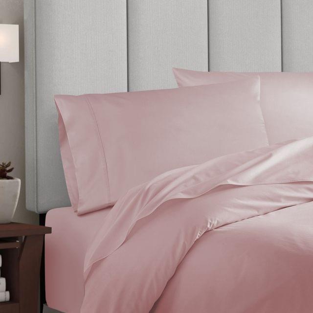 Balmain 1000 Thread Count Hotel Grade Bamboo Cotton Quilt Cover Pillowcases Set - King - Blush
