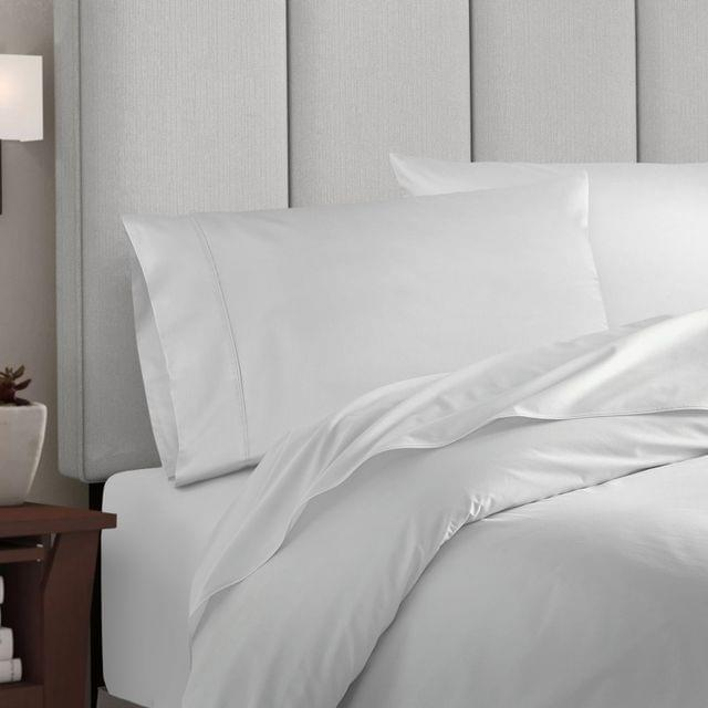 Balmain 1000 Thread Count Hotel Grade Bamboo Cotton Quilt Cover Pillowcases Set - King - White