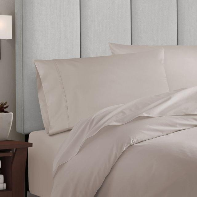Balmain 1000 Thread Count Hotel Grade Bamboo Cotton Quilt Cover Pillowcases Set - Queen - Dove