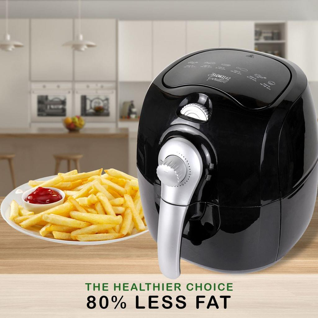 Kitchen Couture 4L Air Fryer Healthy Food No Oil Cooking Low Fat Family Meals - Black/Silver