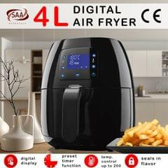 Kitchen Couture 4L Digital Air Fryer Healthy Food Cooking Low Fat Family Meals