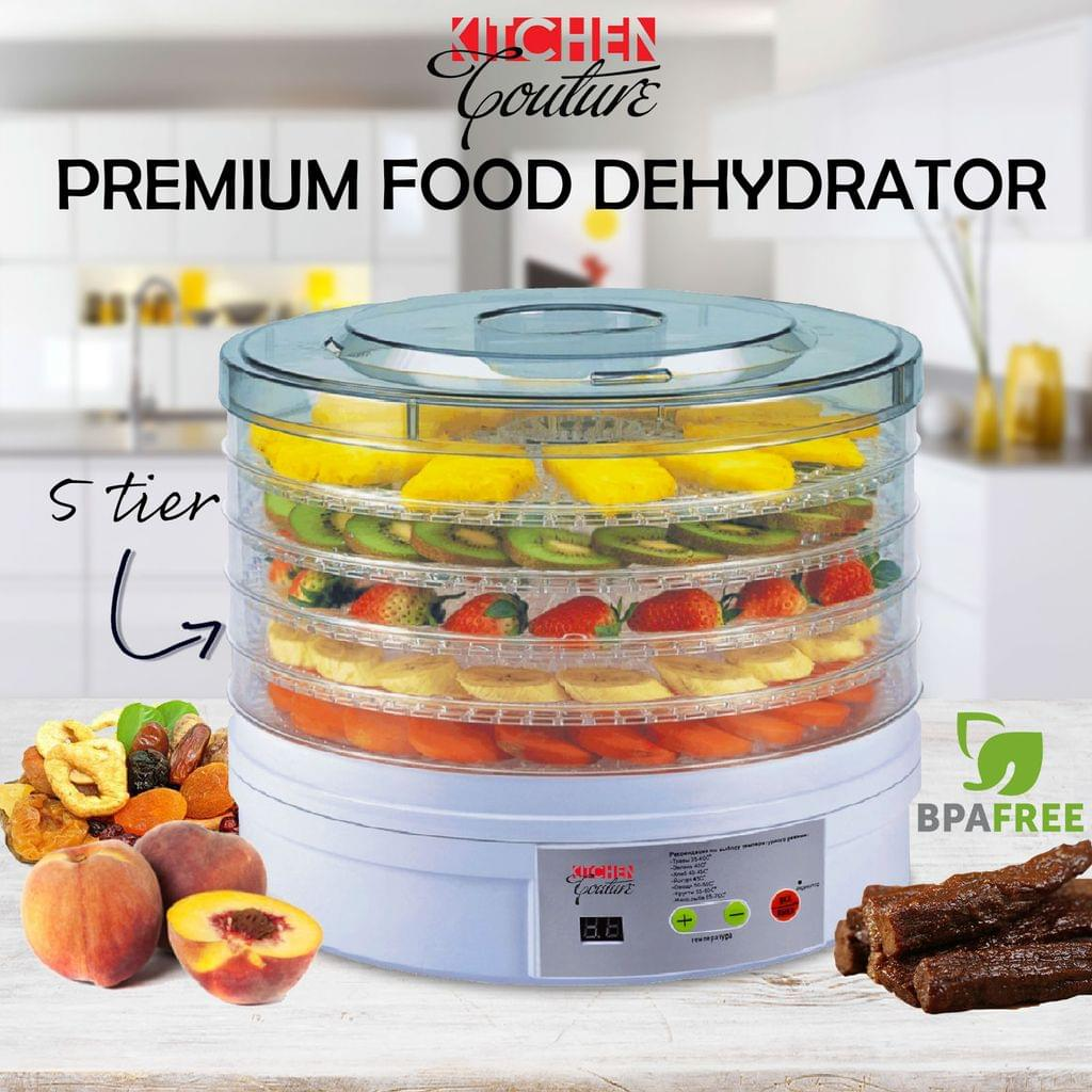 NEW 5 Tray Food Dehydrator Fruit Preserver Maker Commercial Dehydrators