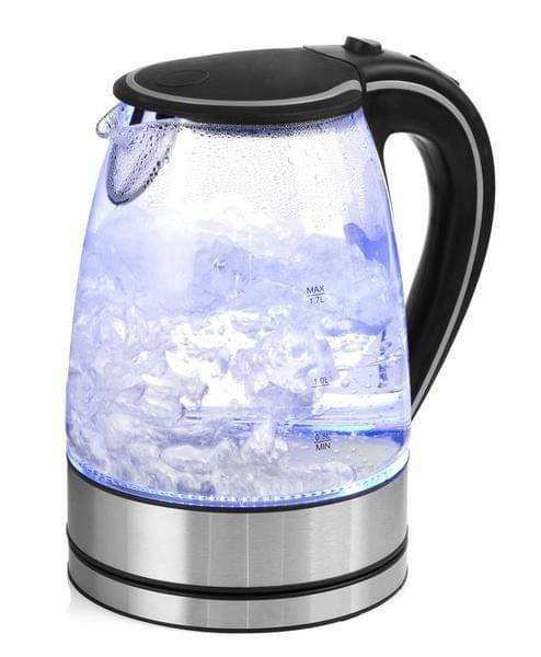NEW Glass Kettle Electric LED Light Kitchen Water Jug Stainless Steel 1.7L