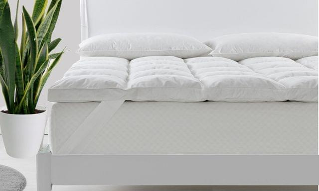 Royal Comfort 1800GSM 233TC Cotton Duck Feather Down Mattress Topper Cover King