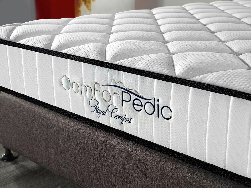 Royal Comfort Comforpedic 5 Zone Mattress In A Box Bonnell Spring Foam All Sizes - Double - White