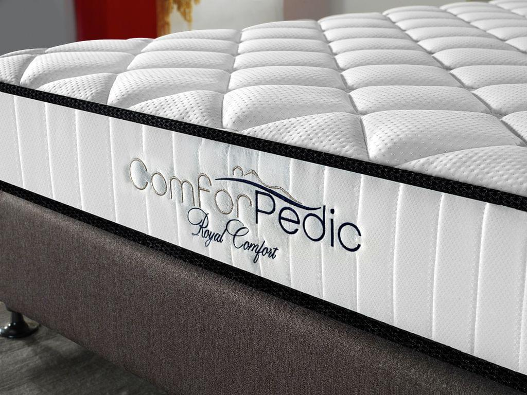 Royal Comfort Comforpedic 5 Zone Mattress In A Box Bonnell Spring Foam All Sizes - King Single - White