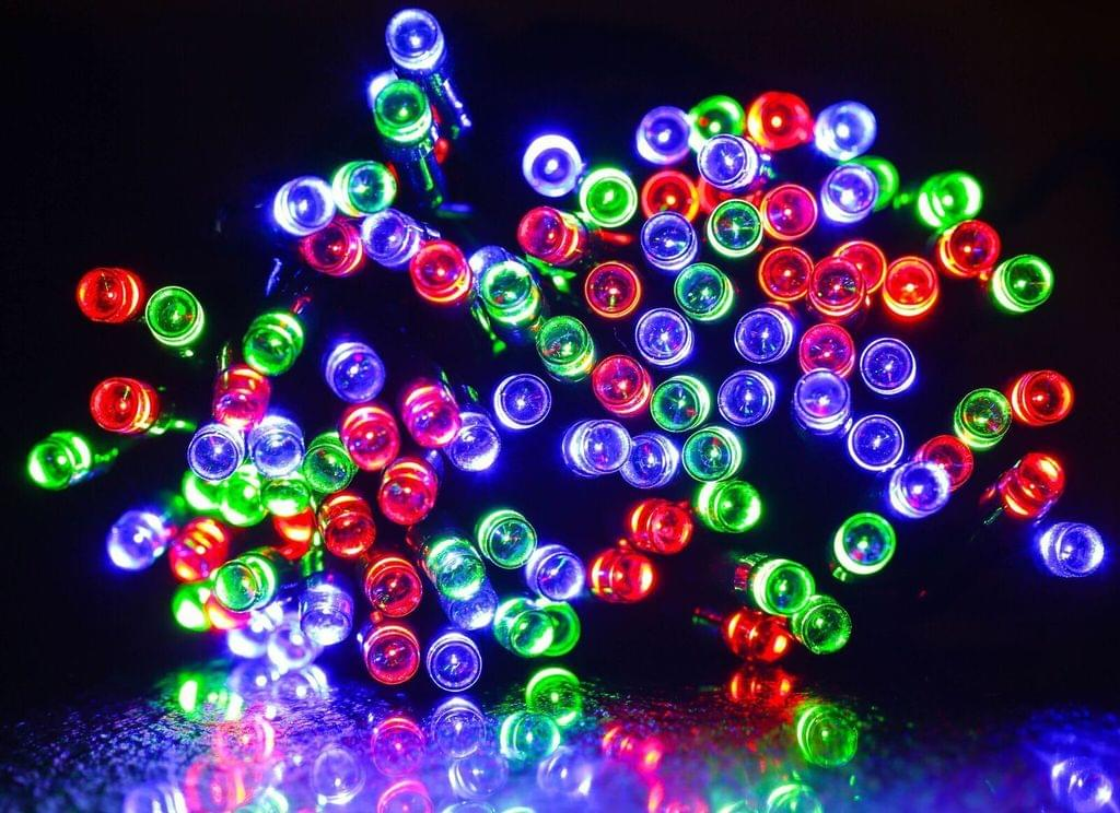 200 LED Indoor Outdoor Waterproof Solar Fairy String Lights Party Xmas - RGB
