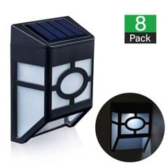 8 X Fence Lights Solar Powered LED Waterproof Outdoor Garden Patio Wall Pathway