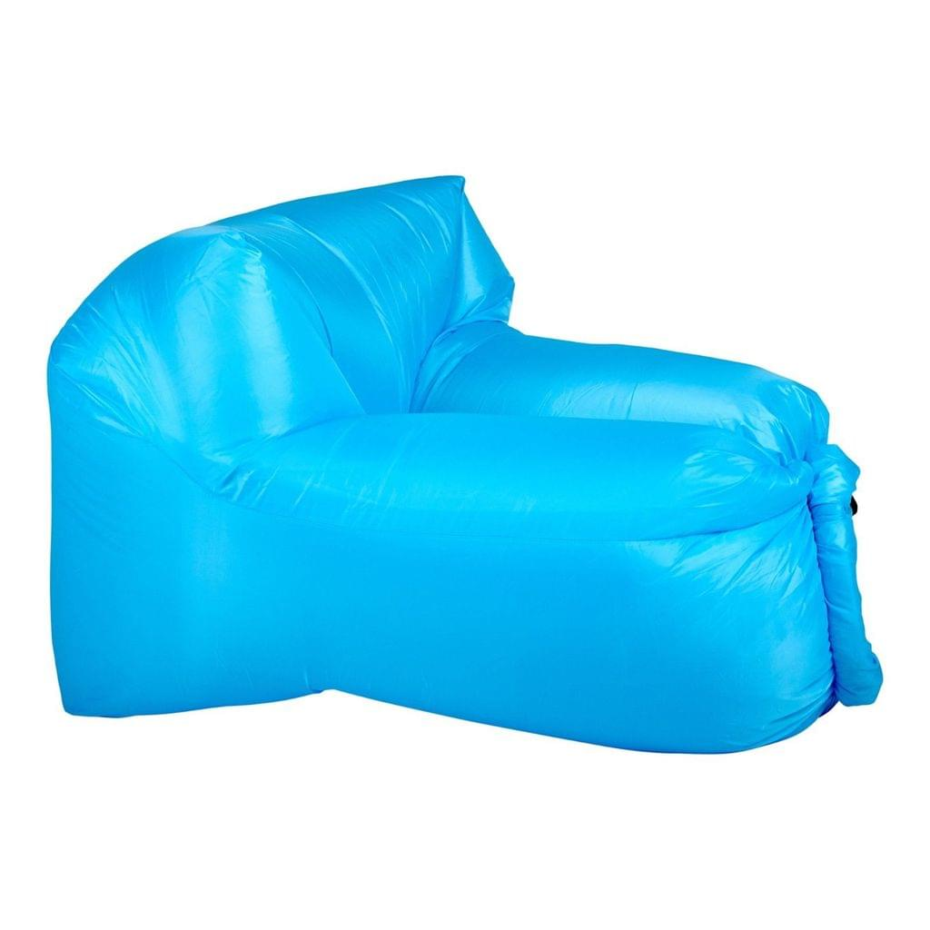 Inflatable Air Lounger for Beach Camping Festival Outdoor Lazy Lounge Chair - Light Blue