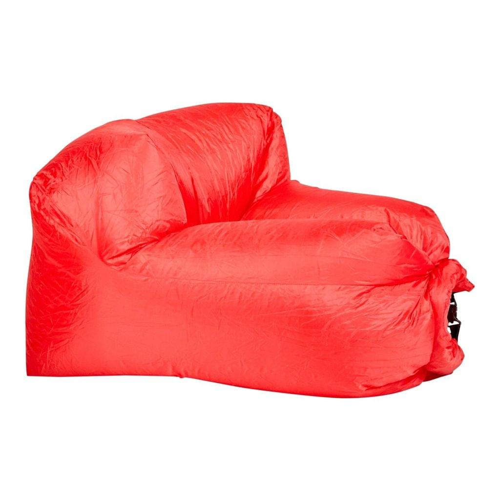 Inflatable Air Lounger for Beach Camping Festival Outdoor Lazy Lounge Chair - Red
