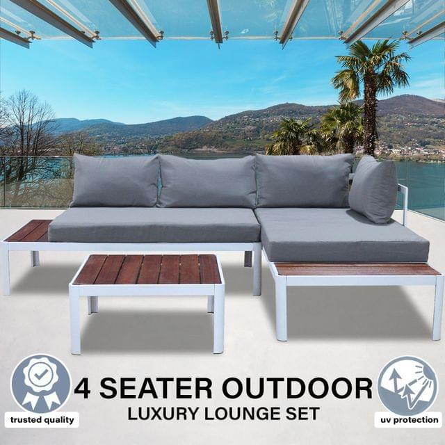 Milano 3pc Outdoor Furniture Lounge Sofa Set Poolside Deck Patio Setting Garden