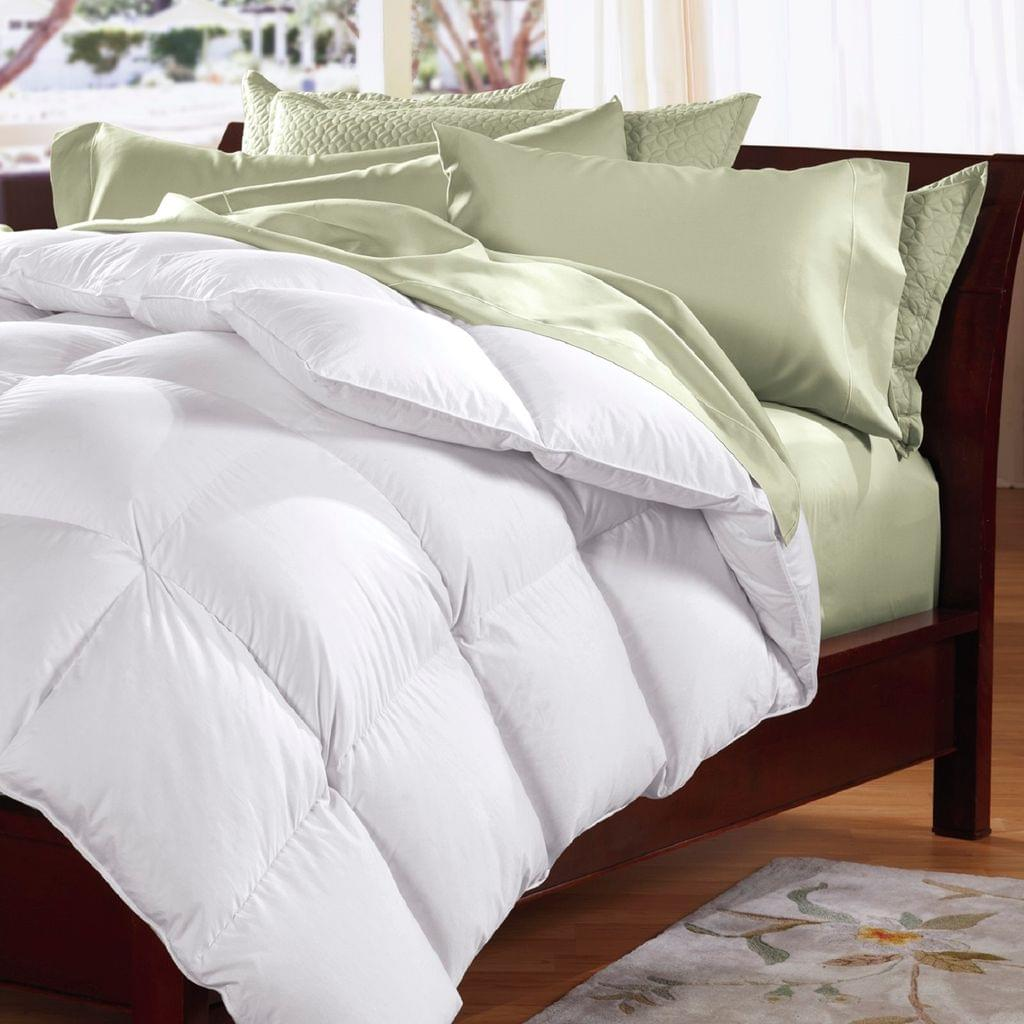 Goose Feather & Down Quilt 500GSM + Goose Feather and Down Pillows 2 Pack Combo - Single
