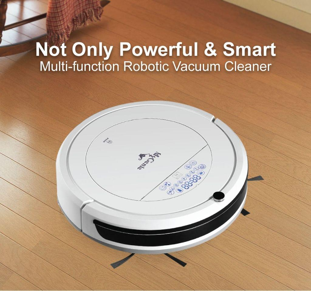 MyGenie ZX1000 Automatic Robotic Vacuum Cleaner Dry Wet Mop Sweep Floor - White