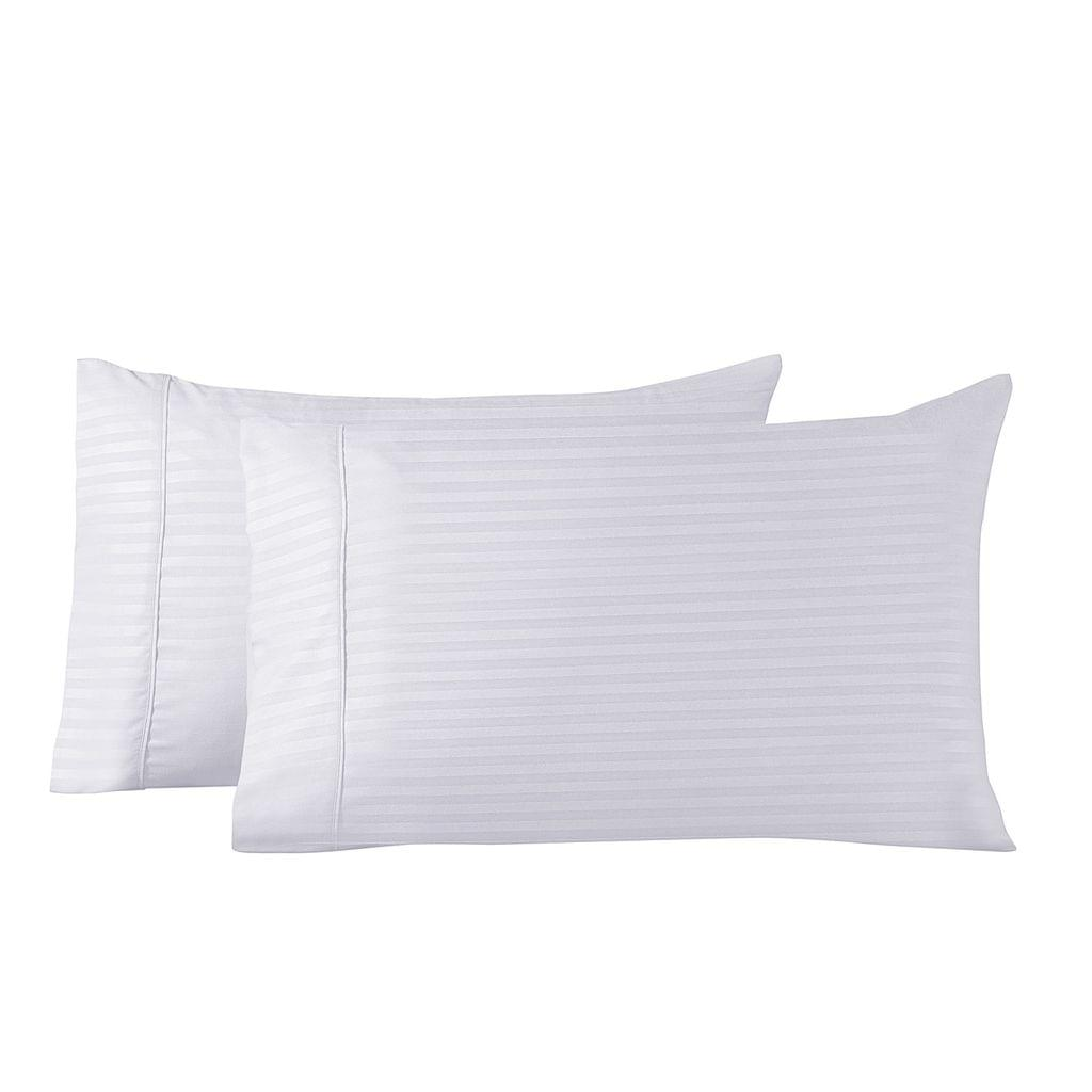 Royal Comfort Twin Pack Pillowcases Cooling Bamboo Blend Ultra Soft 51cm x 76cm - White