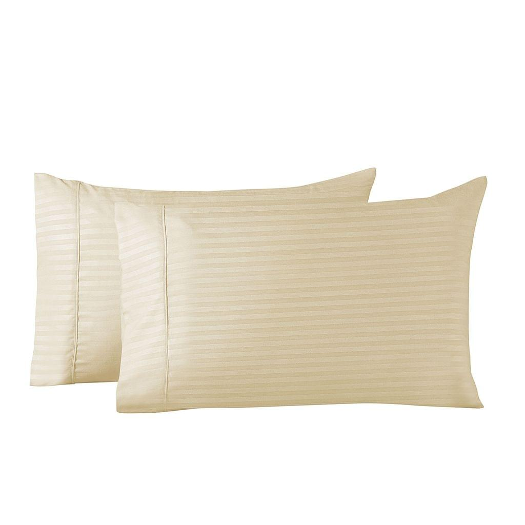 Royal Comfort Twin Pack Pillowcases Cooling Bamboo Blend Ultra Soft 51cm x 76cm - Sand