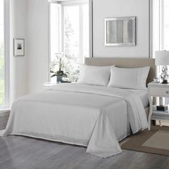 Royal Comfort 1200 Thread Count Sheet Set 4 Piece Ultra Soft Satin Weave Finish - King - Silver
