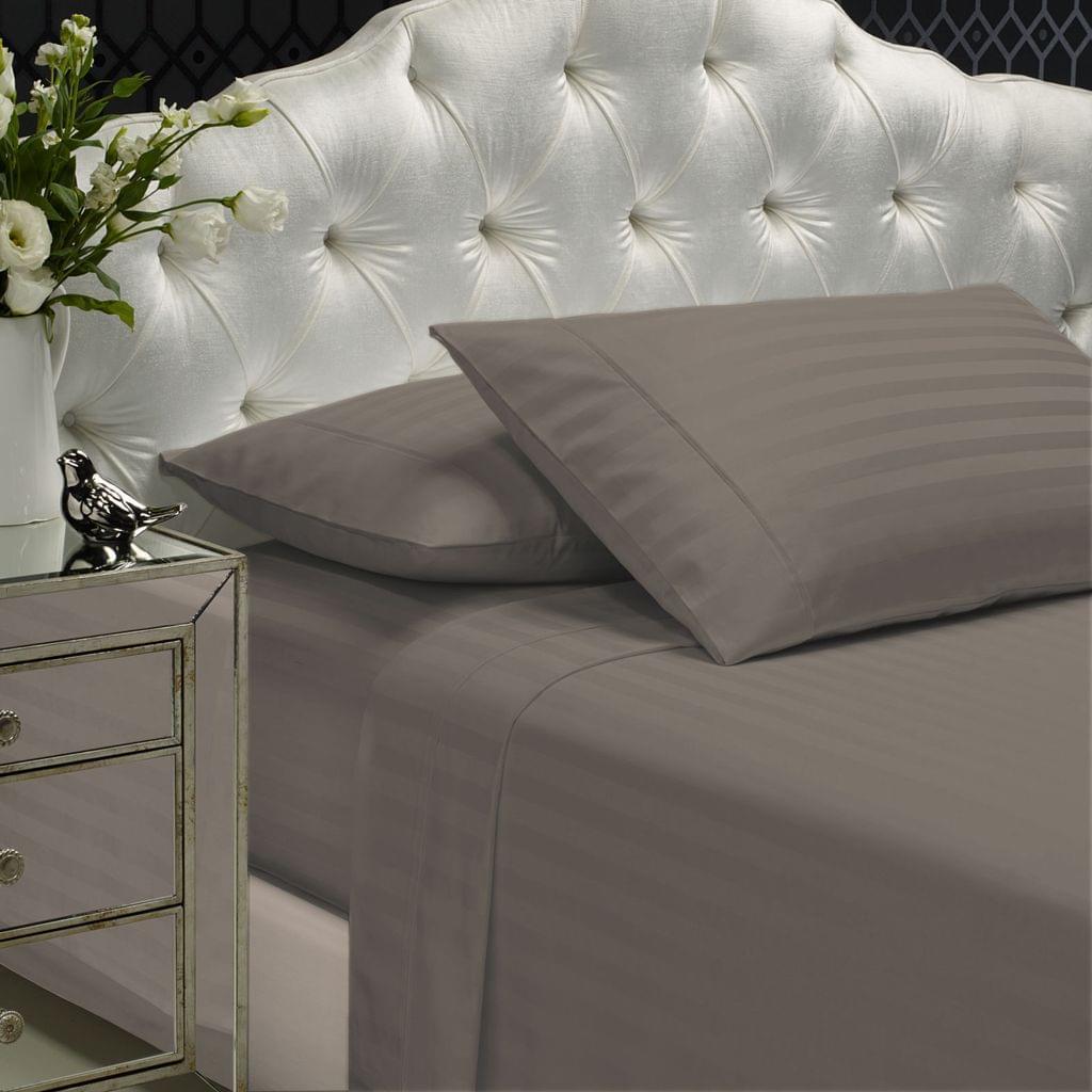 Royal Comfort 1200TC Sheet Set Damask Cotton Blend Ultra Soft Sateen Bedding - King - Pewter
