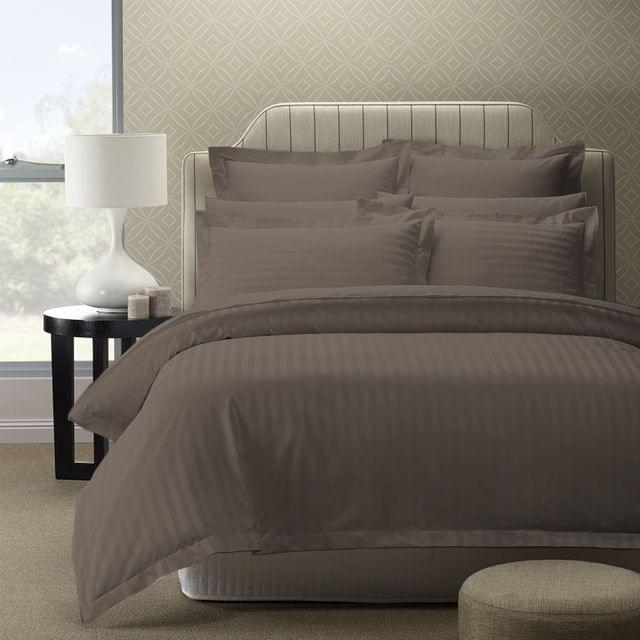 Royal Comfort 1200TC Quilt Cover Set Damask Cotton Blend Luxury Sateen Bedding - King - Pewter