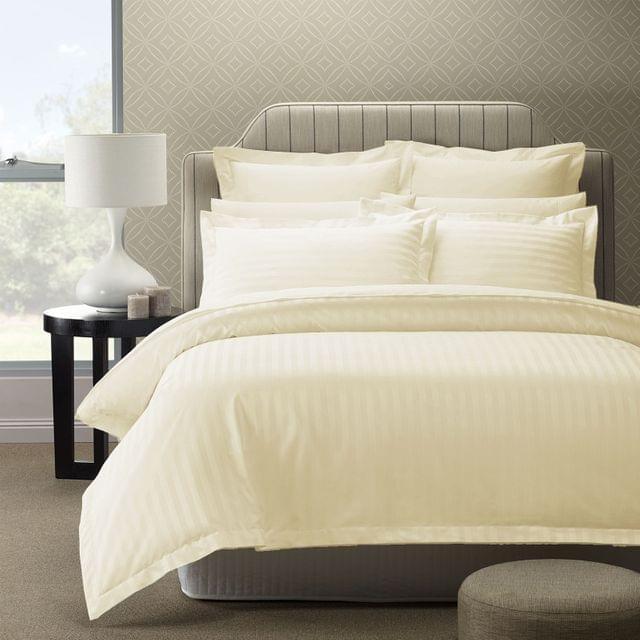Royal Comfort 1200TC Quilt Cover Set Damask Cotton Blend Luxury Sateen Bedding - Queen - Pebble