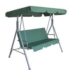 Milano Outdoor Swing Bench Seat Chair Canopy Furniture 3 Seater Garden Hammock - Black