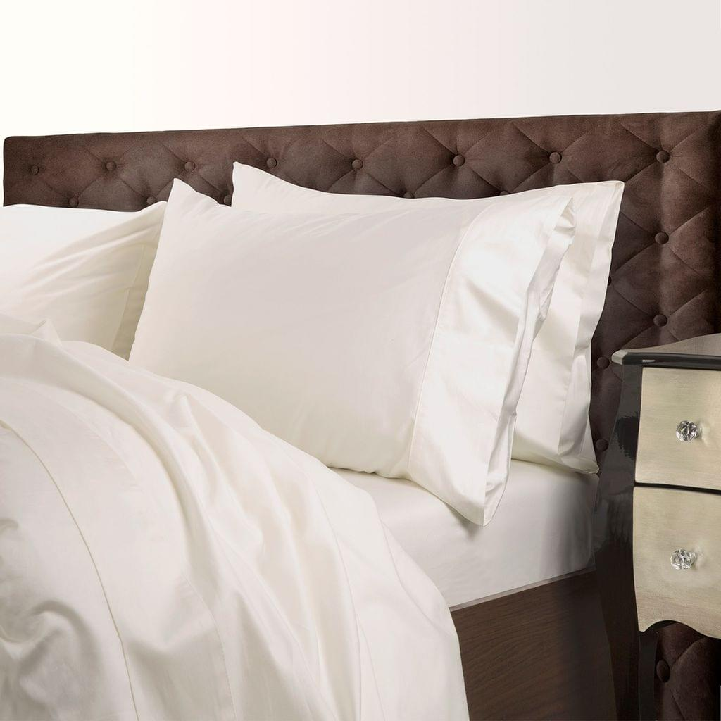 Royal Comfort 1000 Thread Count Cotton Blend Quilt Cover Set Premium Hotel Grade - Queen - Pebble