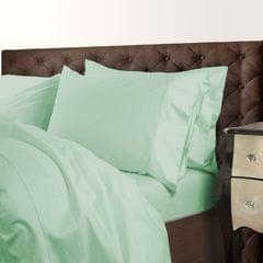 Royal Comfort 1000 Thread Count Cotton Blend Quilt Cover Set Premium Hotel Grade - Queen - Green Mist