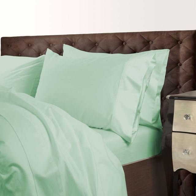 Royal Comfort 1000 Thread Count Cotton Blend Quilt Cover Set Premium Hotel Grade - King - Green Mist