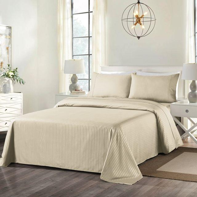 Royal Comfort Cooling Bamboo Blend Sheet Set Striped 1000 Thread Count Pure Soft - Double - White