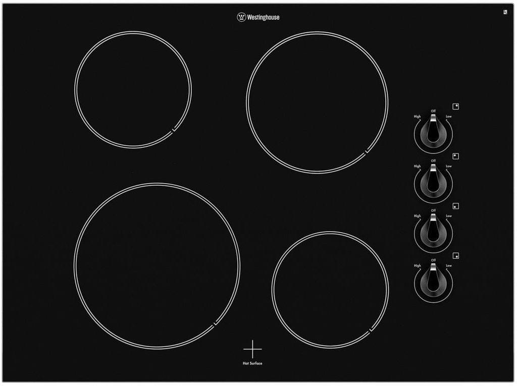 Westinghouse 70cm Ceramic Cooktop 4 Elements Knob Control