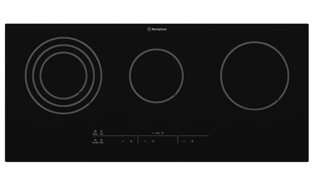 Westinghouse 90cm Ceramic Cooktop 3 Element Touch Control