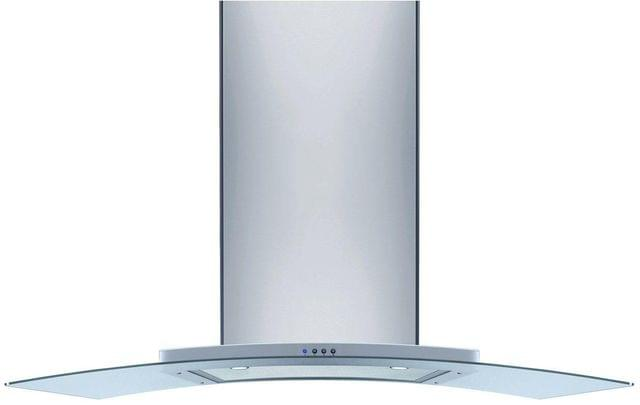 Omega 90cm S/S Canopy Rangehood w Curved Glass 844m3h
